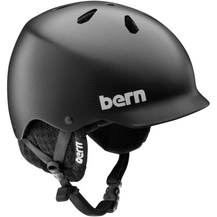 Snowboard You know you should wear a helmet, but you just can't stand having a big, heavy hunk of plastic on your head. Luckily there's the Bern Watts Carbon Fiber EPS Visor Helmet with Knit Liner, which feature a low-profile fit that doesn't look goofy and a carbon fiber shell that's super-light so you won't feel top-heavy. Plus, its knit liner snaps out so you can rock it for slushy spring days and summer skate sessions without overheating. - $149.97