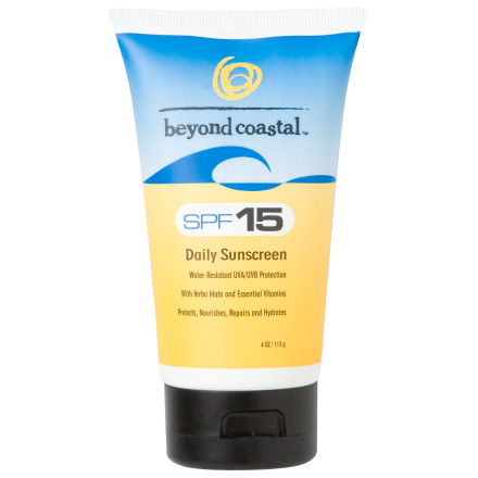 Ski Beyond Coastal's Active SPF 15 Sunscreen not only blocks harmful UVA and UVB rays, but it also nourishes your skin with the antioxidant qualities of yerba mate, green tea, DMAE, and lipoic acid. Apply this water-resistant cream to protect your skin as you hike, bike, ski, or surf. Beyond Coastal didn't use any extra additives or chemicals in the Active SPF 15 Sunscreen so it's hypoallergenic and parabens- and oil-free. This luxury sunscreen prevents burning while it energizes your skin to keep it glowing all day. - $9.95