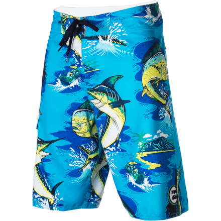 Surf Nothing says you're ready to party in the surf, on a boat, or down by the river more than big ugly fish, which is why you're going to sport the Billabong Men's Gettin Jiggy Board Short with pride this summer. - $19.78