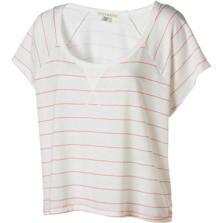 Surf Throw the Billabong Women's Short-Sleeve Highlite Shirt on when you want a too-cool-to-care look that is laid-back and sexy. - $23.96