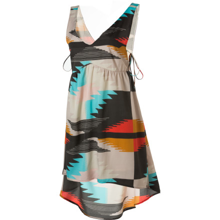 Entertainment Wishful thinking can't prolong summer, but you can extend its carefree attitude well into fall with the Billabong Indian Summers Dress. This casual tank dress's Southwestern print reflects the colors of late summer and autumn. - $44.51