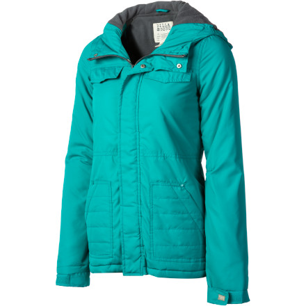 Surf The Billabong Women's Ramos Jacket keeps out the winter cold in style. Zip up in this sassy little jacket when you want to bundle up without looking like an actual bundle. - $56.48