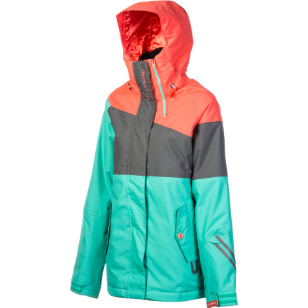 Snowboard You may not be a sponsored rider, but you can sure look and feel like one in the Billabong Women's Anne-Flore Marxer Jacket. This jacket's 15K-rated fabric comes through on wet, deep storm days, while its rider fit and warm insulation allow you to spend hours slashing pow turns. - $183.96