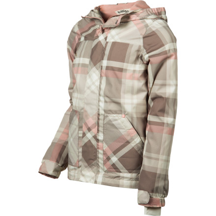 Surf Nip the chill in the bud in the soft and cozy Billabong Girls' Ice House Jacket, with fleece lining and ample hood. Hook-and-loop closures at cuff and front placket plus a comfy chin flap seal her up snug as a cold-weather bug. With a super-cute plaid print and lightweight versatility, your fashionista can wear in right into spring. - $34.62