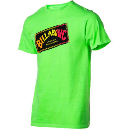 Surf Billabong Iconic Neon T-Shirt - Short-Sleeve - Men's - $17.56