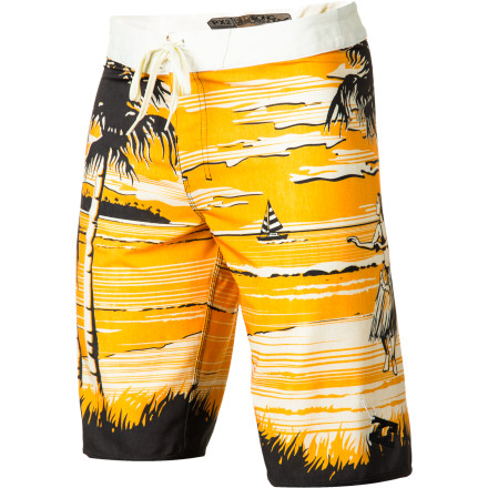 Surf Modern tech meets classic surf style in the Billabong Island Fever Board Short. This Hawaiian-themed boardie features Billabong's insanely lightweight and quick-drying Platinum X and H2 Repel technologies so you can worry about the sets in front of you and not what your drawers are doing. - $43.96