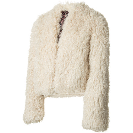 Entertainment Throw the Billabong Women's Run My Way Jacket over your dress before you head out for a night of fun with the ladies. This cozy faux-fur jacket oozes high-fashion style thanks to its printed cheetah lining and super-soft outer fabric. - $54.70