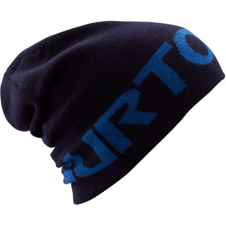Snowboard With probably the biggest logo weve seen on someones head, Burton should probably pay you to wear the Slouch Beanie. - $11.97