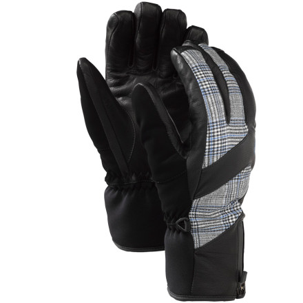 Snowboard The Burton Mens AK Guide Gloves protect your hands during big-mountain hucks and hairy resort storms. Waterproof breathable Gore-Tex shells send crappy weather packing, while Primaloft insulation packs warmth around your paws. Neoprene stretch panels and Burtons Pistol Grip pre-curved fit increase dexterity for strapping in, opening your backcountry pack, or adjusting your goggles or helmet. - $114.90