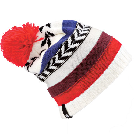 Snowboard The Burton Women's Dreamcatcher Beanie encases your head in two layers of soft acrylic fabric. The added benefit is that if you fall asleep while wearing this beanie you're sure to remember only your good dreams. - $18.57
