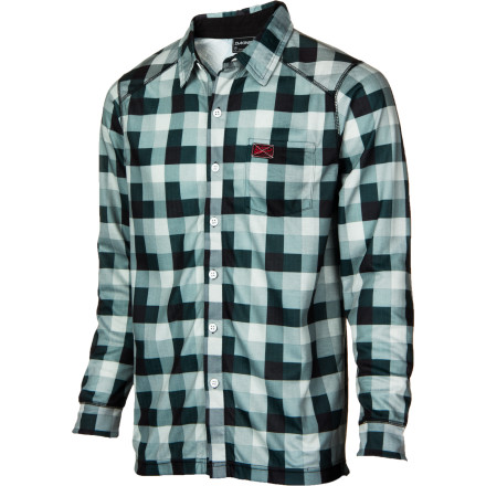 Surf It's not just for chopping firewood the DAKINE Chuck Plaid Shirt dries quickly and adds a bit of heat beneath your riding jacket while you throw down in the park. The double-layered polyester works well as a midweight baselayer, it resists odor so you won't be scared to take your jacket off during post-shred drinks, and it looks damn good. - $42.22