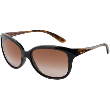 Entertainment Indulge your craving for fun, flirty sunglasses without neglecting your eyes with the Oakley Women's Pampered Sunglasses. Whether you're sporting bright lollipop colors or simply letting the retro cat-eye style do the talking, you're babying your eyes with top-shelf Oakley protection. - $71.50