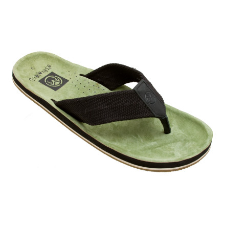 Entertainment If the Ocean Minded Scorpion Sandal's suede footbed doesn't bring a smile to your face, then the gum-rubber and burlap outsole should do the job. Made for kicking back and enjoying life, this Ocean Minded sandal features an anatomical footbed to provide arch support and ensure plush comfort when you're strolling down the boardwalk. - $23.97