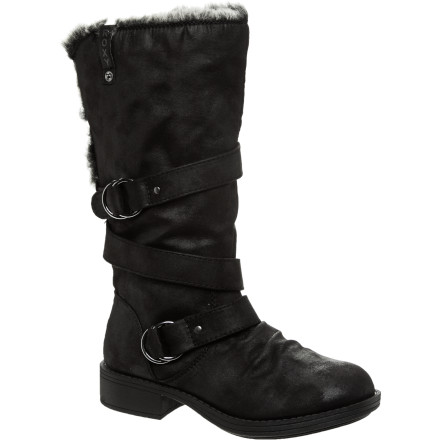 Surf The Roxy Women's Norfolk Boots easily tempt you with high-class style, wrap-around belt details, faux fur trim, and a stellar price that doesn't clean you out. - $57.85