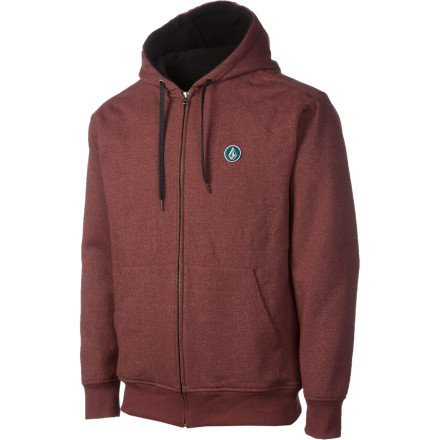 Surf Fall means that all the groms return to school and you get the skatepark to yourself throughout the day. It also means you can't skate with your man-fur showing, so you zip up the Volcom EDS Sherpa-Lined Full-Zip Hoodie and stay warm while the temperatures drop. - $37.48