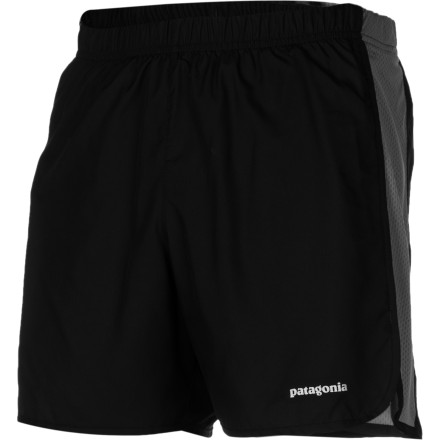 Fitness Pull on the Patagonia Men's Strider Short, stash an energy gel in the internal pocket, and hit the trail for a fast-paced evening run. The Air Flow mesh side panels and DWR-treated fabric help you stay dry when you break a sweat, and the comfortable built-in brief ensures you stay chafe free. - $39.00