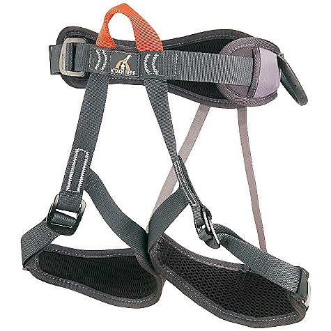 Climbing On Sale. Camp USA Topaz Harness DECENT FEATURES of the Camp USA Topaz Harness Rock Climbing, Institutional/Group One size fits all from a 20-36 inch waist Sliding padding on the waist and legs 3-mm perforated EVA foam Pre-Threaded Auto-Locking Buckles with special safety keepers 2 webbing reinforced gear loops and a chalk bag loop Patented Flat Link elastic straps connecting the waist and legs Single Color-Coded Tie-In Point   The SPECS Weight: 397 g / 14 oz Size: Waist: 52-95 cm / 20-37 in, Legs: 30-70 cm / 12-27.5 in ALL CLIMBING SALES ARE FINAL. - $39.95