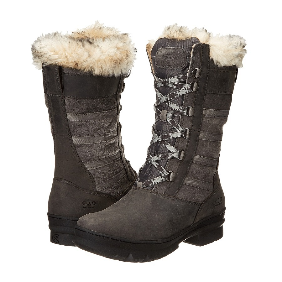Brrr! Cold weather-ready with luxurious winter touches, the Wapato Tall WP women`s winter boot is the snowbunny essential. A combination suede and full-grain leather upper on this warm winter boot for women highlights the rustic-luxe styling. Whether you`re in an ice-castle or strolling the city streets, you`ll stay dry and comfortable thanks to the waterproof seam-sealing, faux fur lining and our 200g KEEN.WARM insulation. - $75.00