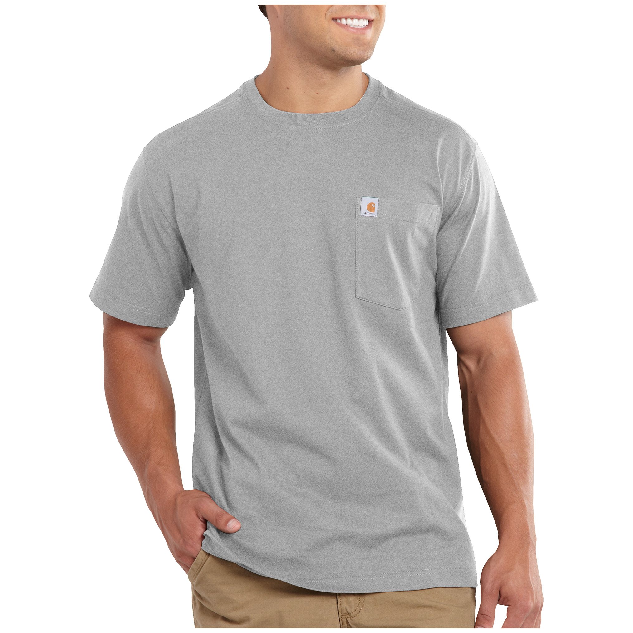 Carhartt Maddock Pocket Short-sleeve T-shirt. Feel good, work harder. That's the concept behind Carhartt's Maddock Short-sleeved Pocket T-shirt.More:5-oz. 100% ring-spun cotton jersey knit Rib knit crewneck Left chest pocket Rolled forward shoulder enhances comfort Side-seamed construction minimizes twisting Tagless neck label Machine wash / dry. Imported. State Color and Size, as available in the Shopping Cart. - $12.99