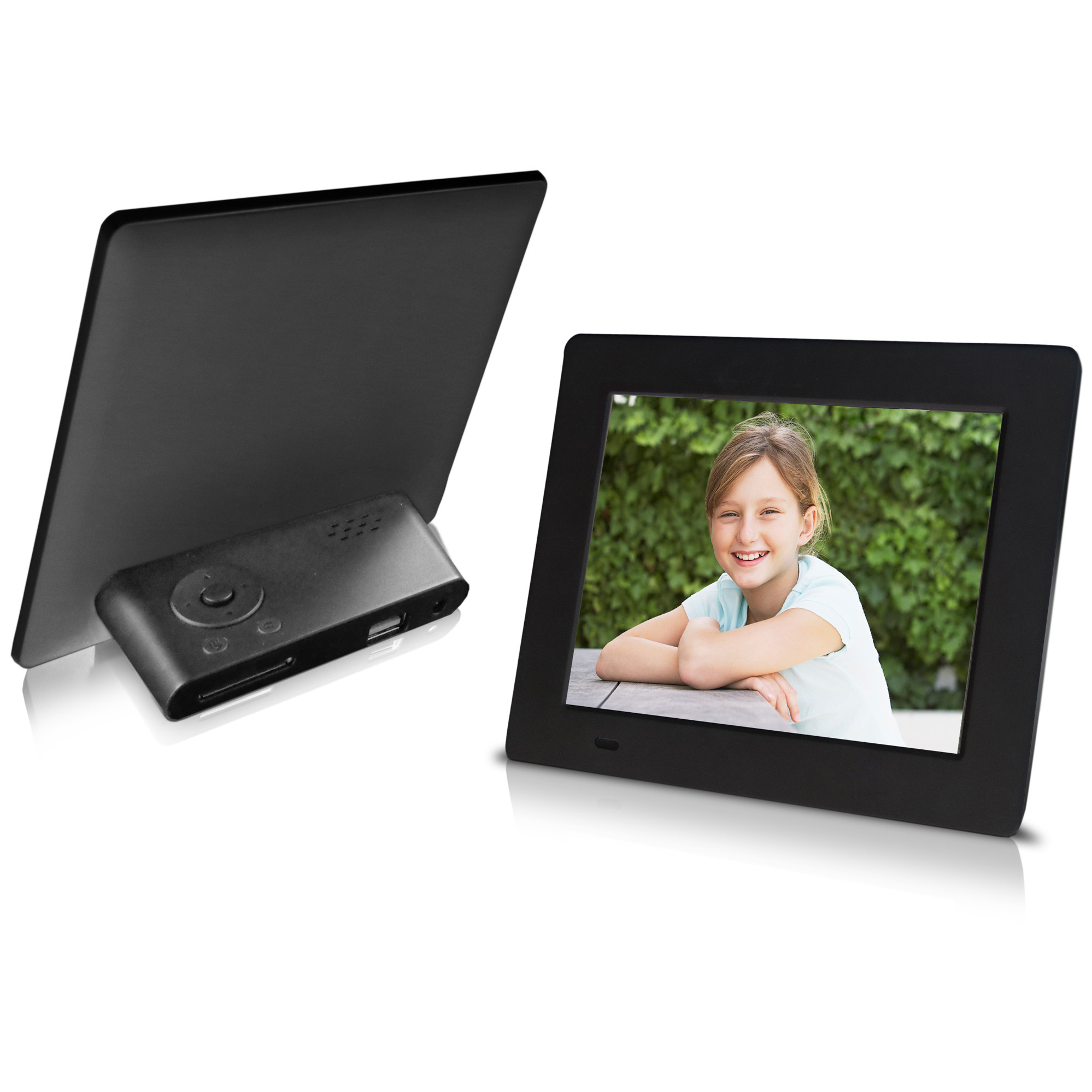 "The Sungale 7"" Digital Photo Frame showcases a rotating display of your favorite photos... with bright, vivid digital clarity! Memories don't fade. At least not with Sungale's 7"" Digital Photo Frame. Your most cherished moments-as clear and vivid as the day they were captured-are never far away. Display a single photo or slide show presentation, complete with multiple transitional effects and interval times!Say cheese:7'' high-definition digital LCD screen displays photos capitallyPlay photosSlide show, step show, enjoy your photos in diversificationMultiple transitional effect and slide show interval timeThumbnail and file manager modeRotate photos to desired directionCompatible with SD / SDHC cardsUSB host to read various external devicesCalendar, Clock functionsShortcut button operationTFT LCD type: DigitalScreen dimension: 7 inch (4:3)Resolution: 800 x 600 pixelsPhoto file formats: JPEGSupport Memory Card Type: SD / SDHCUSB connection: USB hostPower supply: AC 100~240V DC 5VAC adapter. - $34.99"