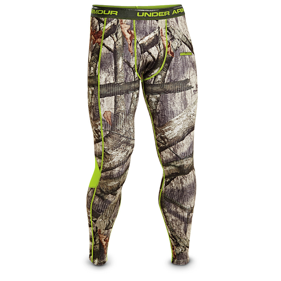 Under Armour ColdGear EVO Scent Control Base Layer Leggings. The ultimate in warm, scent-stealthy, near-silent hunting gear. Under Armour is the original moisture-wicking performance wear, favored by top athletes and hunters. As a base layer, it's unbeatable at keeping you at your best. Infrared fabric technology holds in heat without adding bulk. Scent-control tech keeps your scent under wraps. Get into the best: 87/13 polyester / elastane ColdGear fabric, with snugly supportive compression fit and moisture-wicking comfort Brushed fabric stays quiet in the field Infrared fabric technology locks in warmth without adding bulk Scent-control technology masks you from your prey and lasts 10X longer than carbon Flat-lock seams won't chafe Antimicrobial to inhibit odor bacteria Leggings have working flyMachine wash / hang dry. Imported. State Color and Size, as available in the Shopping Cart. - $57.99