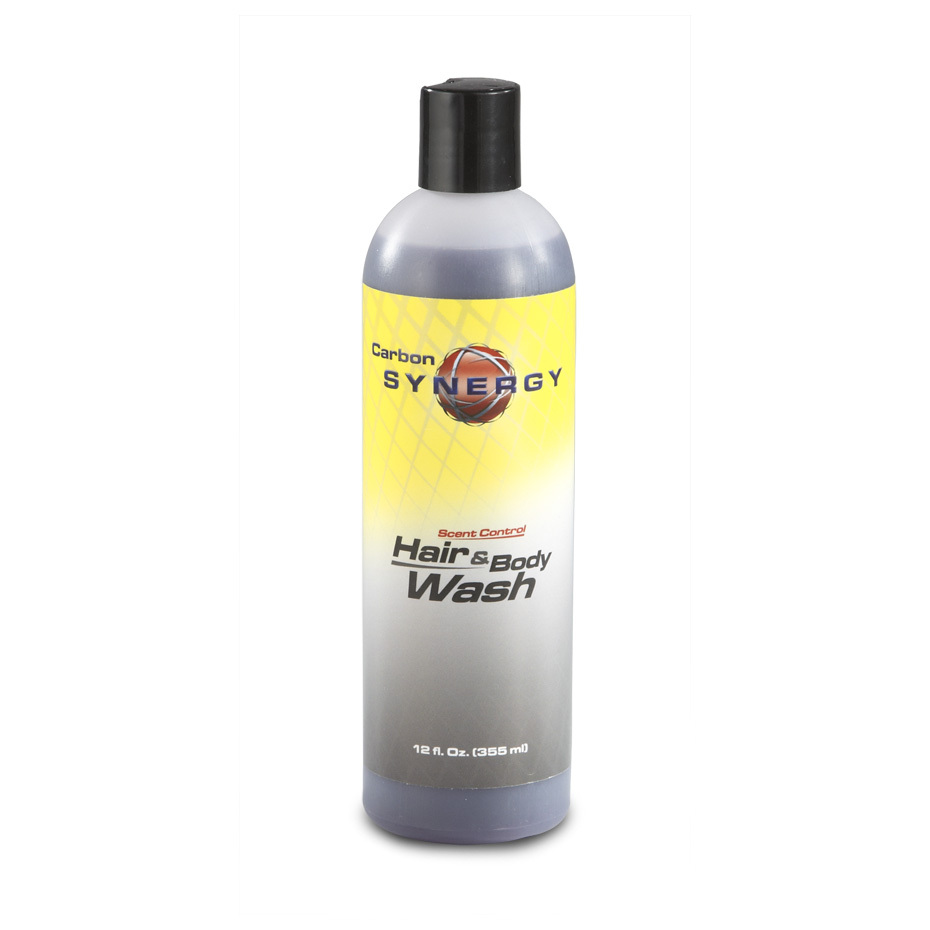 Carbon Synergy Hair  &  Body Wash makes no scents at all. And that's a good thing! This high-quality, no-frills Hair  &  Body Wash rinses scent-free, keeping you off the radar scent-wise. 12-oz. bottle is good for multiple washes. - $7.99