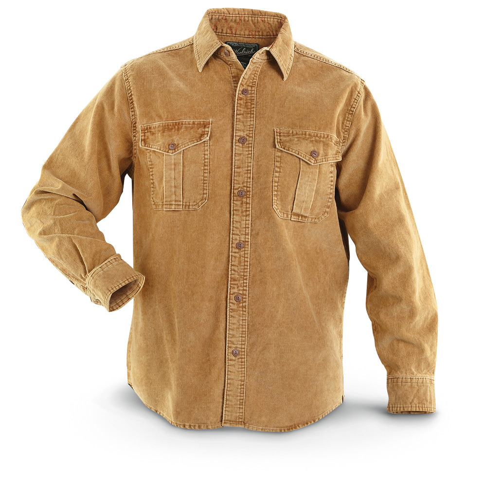 Woolrich Hemlock Cord Shirt feels as soft as it looks. You'll love wearing it at the office or in the backyard. This Shirt has thin-width Corduroy and weathered style for a soft feel from the moment you put it on. And check out the military-inspired chest pockets with button flaps... nice touch! You're finally here: 100% 7 3/4-oz. boulder-washed cotton 14-wale Corduroy Relaxed, classic fit for easy motion Machine wash Imported State Color and Size, as available in the Shopping Cart. - $51.99