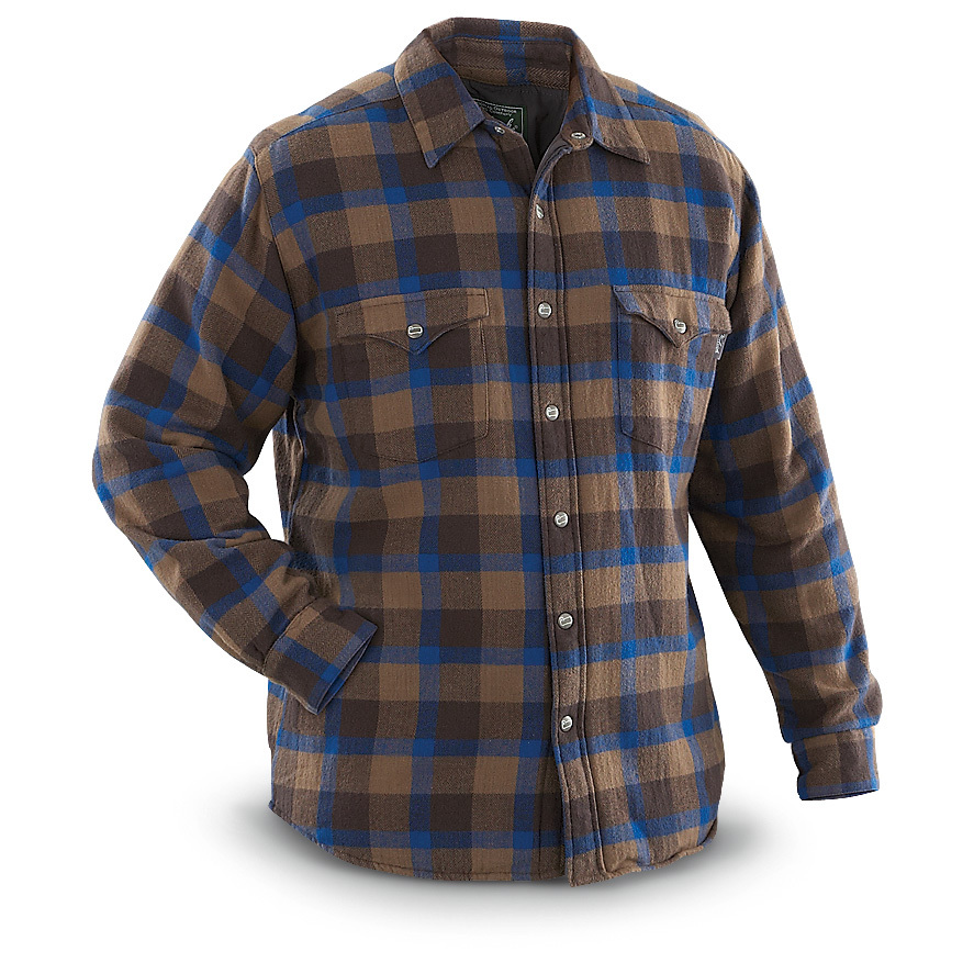 Woolrich Oxbow Lined Shirt Jacket. Because chilly never takes a vacation! Cold morning? Layer-up with this Lined Shirt Jacket for dependable warmth, comfort and quality that wears well year-round. Ideal for fall chores, winter layering, and unpredictable spring / summer weather. Try it on: Heavyweight 7-oz. flannel made of 100% boulder-washed cotton for softness and durability 100% nylon taffeta lining for smooth on and off 60-gram insulation provides warmth Spread collar Durable snap closure front Chest pockets with snap closure flaps Imported. State Color and Size, as available in the Shopping Cart. - $74.99