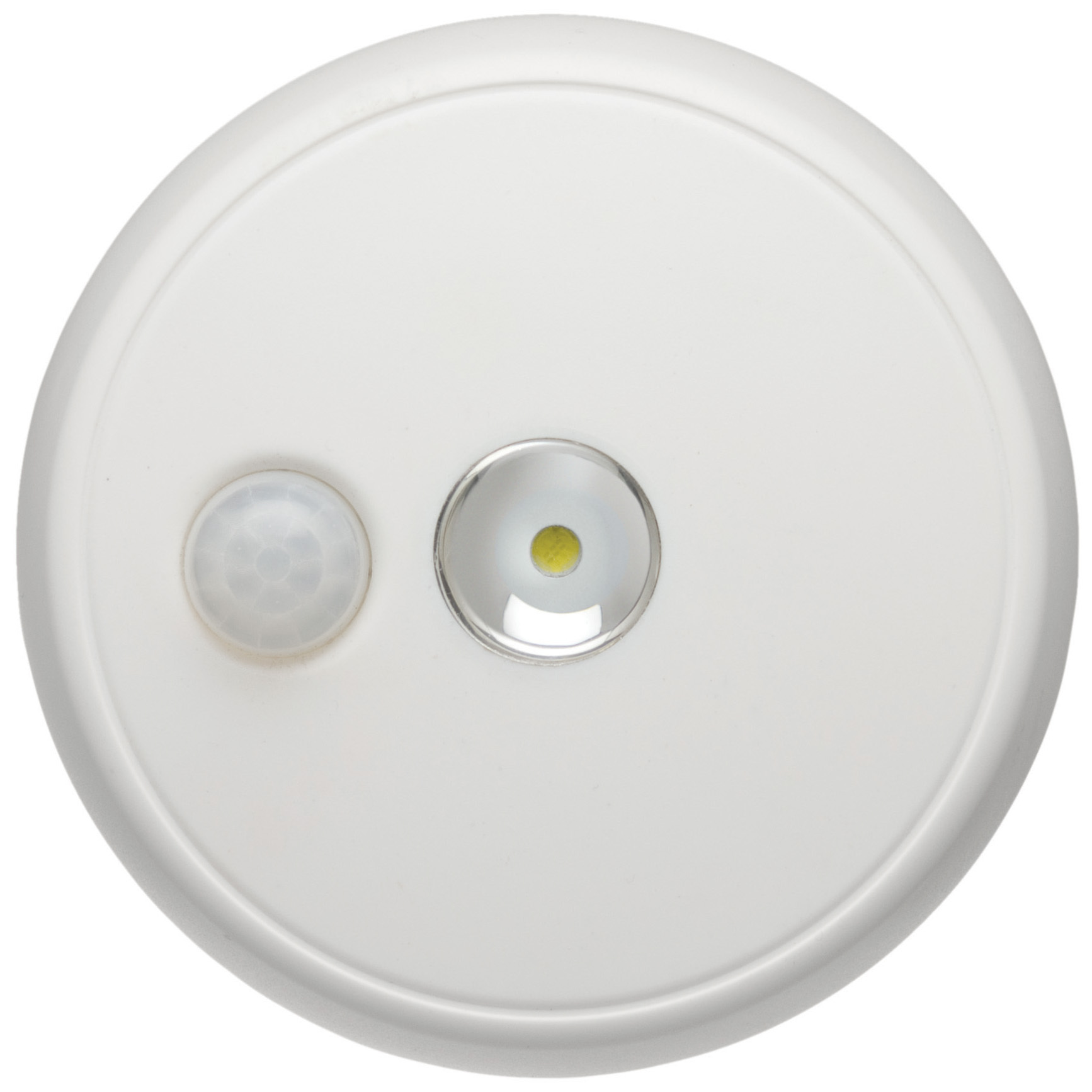 "Wireless Motion Sensor LED Ceiling Light. Energy-efficient lighting to keep your closet, shed, porch or attic well lit. No electrician needed! Bright light where you need it most! This Motion Sensor LED Ceiling Light mounts easily and without wiring. No electrician needed. Detects motion up to 20' away, so you can keep closets, sheds and attics well lit with 100-lumens of brightness! It's incredibly energy efficient, too. The high-quality LED bulb never needs replacing, and you'll get more than 36 hours of use with 1 set of batteries.Features:Durable housing is weather resistant for indoor or outdoor use Produces a bright 100 lumens Keeps areas up to 260 sq. ft. well lit Turns on when motion is detected up to 20' away 30-second auto shutoff feature conserves battery life High-quality LED bulb never needs replacing Wire-free installation is incredibly easy Runs on 3 C-cell batteries (not included) Measures 5 x 1 1/2 x 5""h. Order yours ONLINE today! - $24.99"