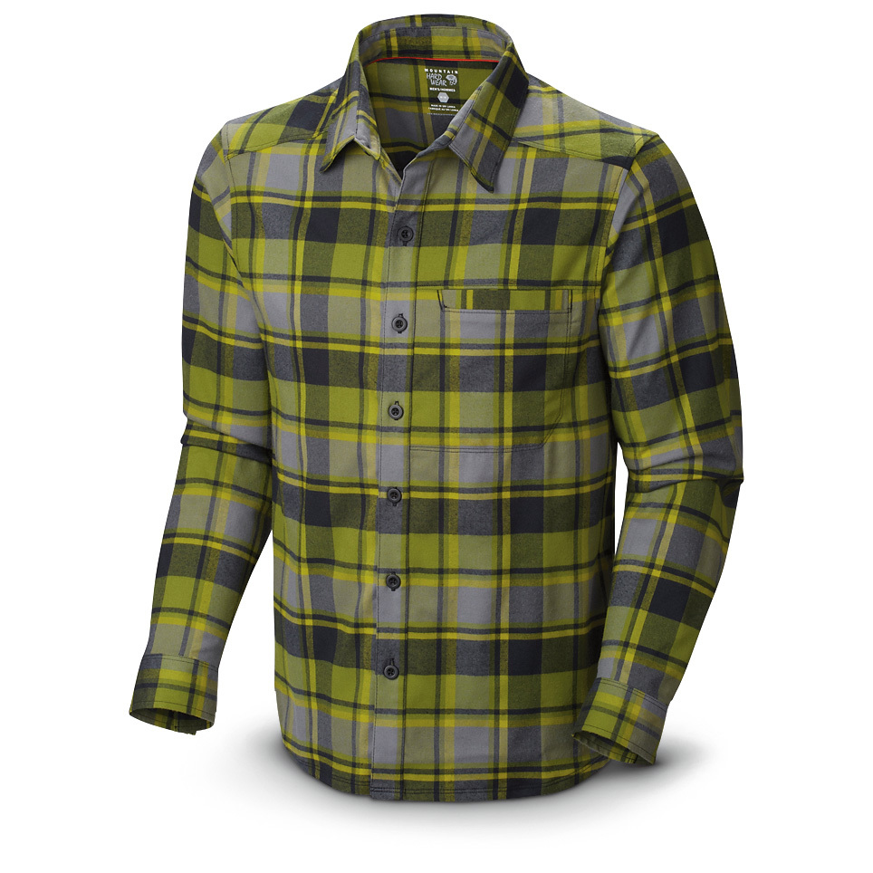 Mountain Hardwear Stretchstone Flannel Shirt. Mountain Hardwear took the tried-and-true flannel shirt and amped it up to make it even better. This long-sleeved Shirt is called the Stretchstone for a reason. It's got extra stretch built in, so it moves with you through any activity. Great for hiking, rock climbing, fishing or even working around the yard. And the classic looks will make this a Shirt you reach for again and again. 94/6 polyester / Lycra elastane for extra stretch Wick.Q moisture-wicking technology Single chest pocket Button front UPF 50 sun protection. State Color and Size, as available in the Shopping Cart. - $49.99