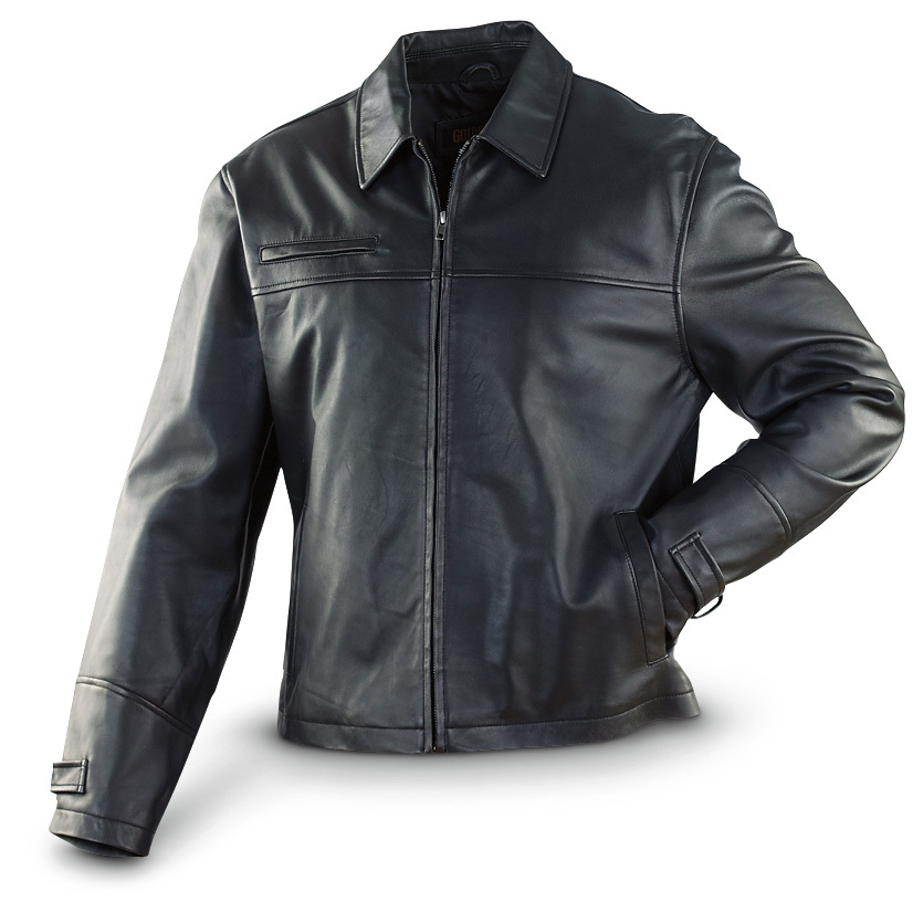 Guide Gear Lambskin Jacket... because every man needs a classic leather jacket in his closet. And this fits the bill perfectly. It's a timeless piece you'll reach for again and again, and the lamb leather is so soft and smooth. You'll be warm and stylish... and your wallet will be looking just as good, because you SAVE BIG when you shop The Guide! 100% genuine lamb leather 100% polyester lining Right chest zip pocket 2 handwarmer pockets 1 interior pocket Lay-down collar Snap cuffs for style Professionally leather clean only Imported. State Size, as available in the Shopping Cart. One great-looking deal!!!! Limited Quantities !!!Built to Sportsman's Guide's exact specifications, Guide Gear stands for dependability, long-lasting quality and unmatched value! Guaranteed! - $109.99