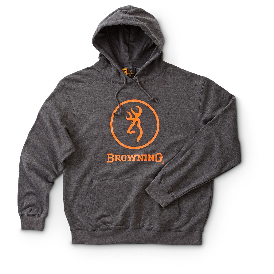 Browning Hooded Sweatshirt. Cozy up to an American icon. Hunting for a hoodie? Well, the buck stops here! Bag your Browning Hooded Sweatshirt - featuring the world-famous Buckmark - for a limited-time Close-Out price!More:60/40 cotton / polyester Ribknit cuffs and waistband Kangaroo pouch-style front pocket 2-Pc. drawstring hood Machine wash / dry. Imported. State Color and Size, as available in the Shopping Cart.!!! Limited Quantities !!! - $9.99