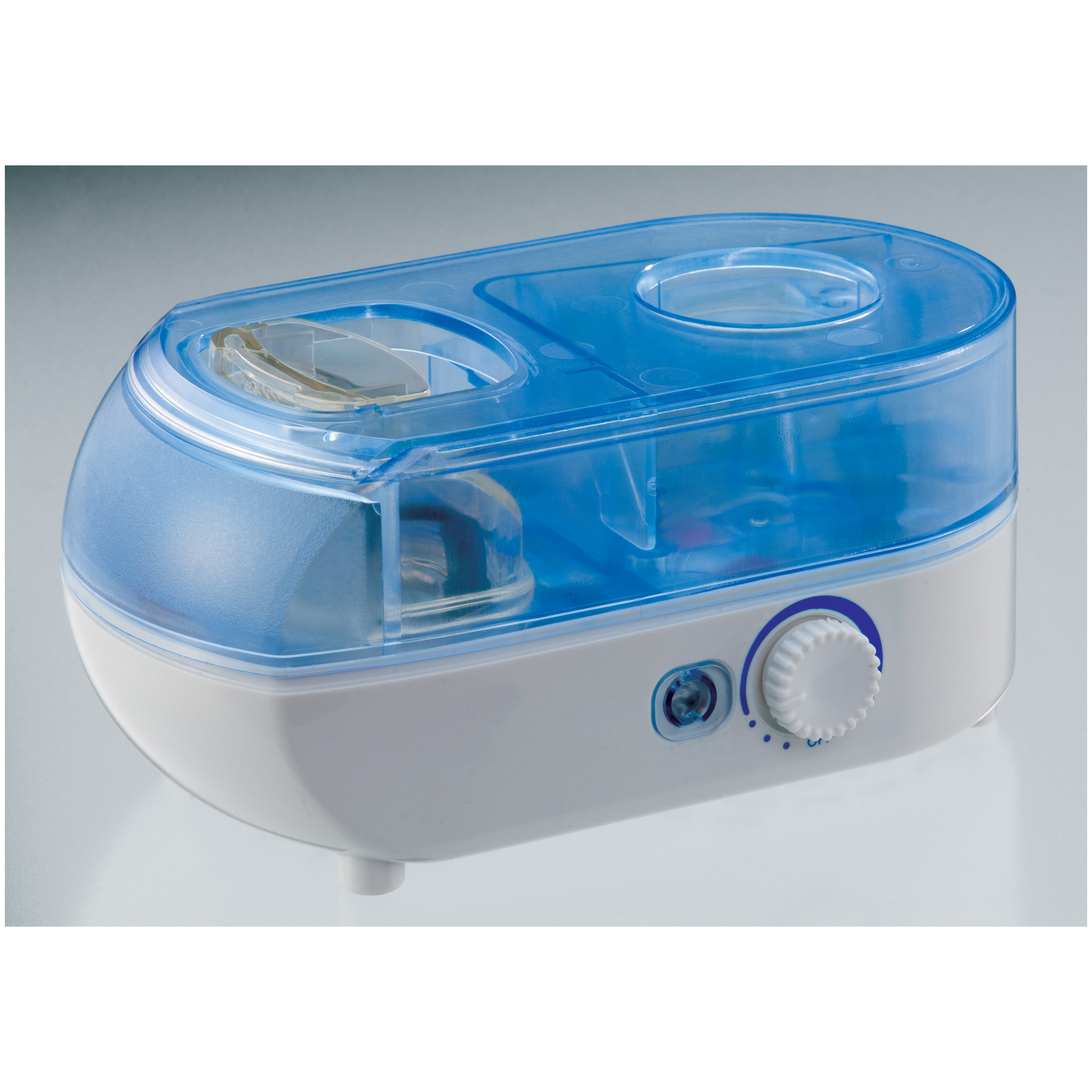 "SPT Personal Humidifier with ION mellows-out the rough, desert-dry air with a soothing, cool mist-anywhere you go! Compact, lightweight portability ensures you'll alway breathe easy, no matter where your travels take you! Small enough to easily fit in yor luggage or carry-on... all you need to obtain at your destination is a bottle of water. Ultrasonic technology offers cool mist and quiet operation while a built-in ionizer purifies the air by removing bacteria, allergens and contaminents.Breathe easier on the road:Adjustable mist Built-in ionizer Uses water bottle instead of water tank 80ml per hour humidity output 7 hrs / 500ml humidity capacity Carrying pouch and 3 bottle adapters included Quiet operation Low power consumption UL listed AC adapter 5 3/4 x 3 x 2 1/2"". Only 12 ozs.! - $64.99"