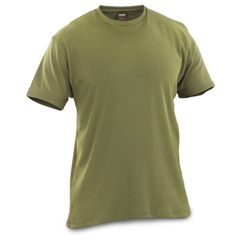 Bell Ranger Olive Drab Rib T-shirt feels great and looks sharp! Topnotch quality! Get this Bell Ranger Olive Drab Rib T-shirt for everything from workouts to chores around the house. It's lightweight, soft, and incredibly comfortable with high-quality construction for years of durable wear. Thanks to our Close-Out buy, you SAVE! Features: 50/50 cotton / polyester construction Machine wash / dry ImportedState Size, as available in the Shopping Cart. - $4.99