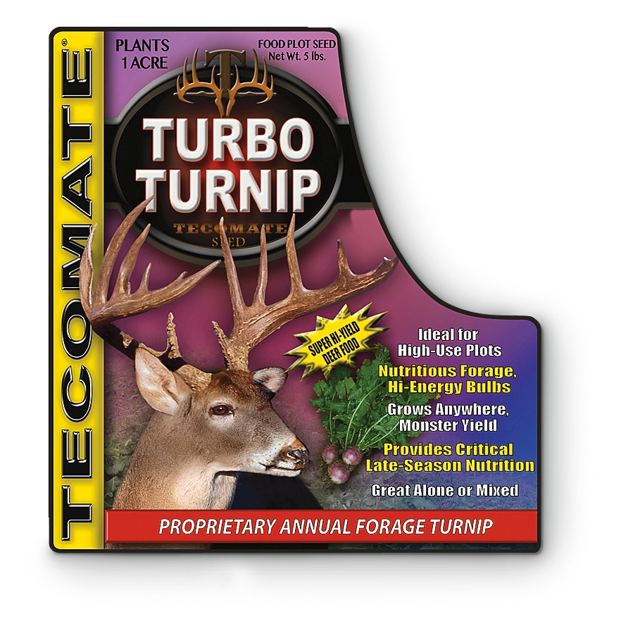 Tecomate Wildlife Systems. Fuel for your herd! Super high-yield annual forage turnip. 5-lb. jug plants 1 acre - $29.99