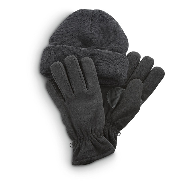 Jacob Ash Acrylic Hat / Thin Glove Set. Head 'n' hands warmth! Chase away chills with this Hat / Glove combo at the right discount price! Stocking Hat: Thick, 100% acrylic Fold-over for best fit Thin Gloves: 100% polyester fleece shell and lining 65/35 Olefin / polyester fill 40 gram Thinsulate Insulation Grip palm and thumb Elastic cuff locks out cold Machine wash / dry. Imported State Color and Size, as available in the Shopping Cart. - $7.99