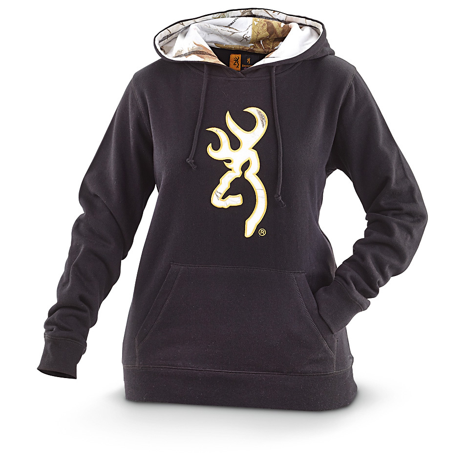 Women's Browning Buckmark Snow Hooded Sweatshirt. The ultimate hoodie for getting down and comfortable. A go-to classic from Browning, in a Sportsman's Guide exclusive style!Soft, comfortable 60/40 cotton / polyester blend2-Pc. lined hood with drawstring Kangaroo pocket Rib-knit cuffs and waist Machine wash / dry. Imported.State Color and Size, as available in the Shopping Cart. - $29.99