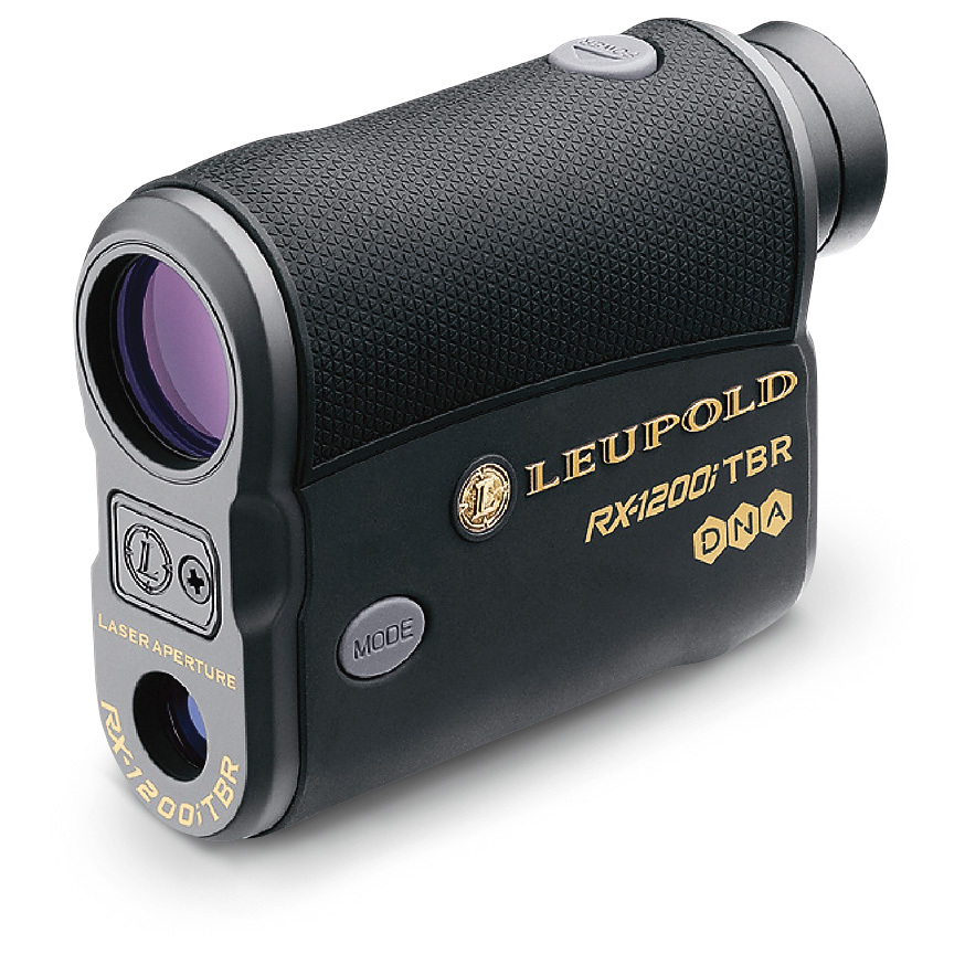 "Unmatched speed and precision! Leupold RX Laser Rangefinder. This 1,200-yd. Rangefinder features Leupold Digitally eNhanced Accuracy (DNA) that's twice as fast as earlier generations, with precision under a yard. TBR models feature True Ballistic Range mode that corrects for inclines to deliver extreme accuracy. Features:Premium multi-coated lens system for pure clarity 3 selectable reticles... Plus Point, Duplex, Duplex with Plus Point Close focus from 5-6 yds. 6X magnification 320' F.O.V. @ 1,000 yds. Scan mode for continuous read-out as you track movement Unique Trophy Scale feature for instantly and accurately judging width and / or height of a target Easy, comfortable one-handed control Fast-focus eyepiece with audible clicks Compact, weatherproof build. Come with carry case, lanyard and CR2 lithium camera battery. All are approx. 4"" x 1 1/2"" x 3""h., under 8 ozs. Range up to 1,215 yds. for a reflective target, 900 yds. for a tree, 800 yds. for a deer. TBR ballistic reading. Vivid OLED display.Check the specs and order your world-class Leupold for sure shooting success! - $399.99"