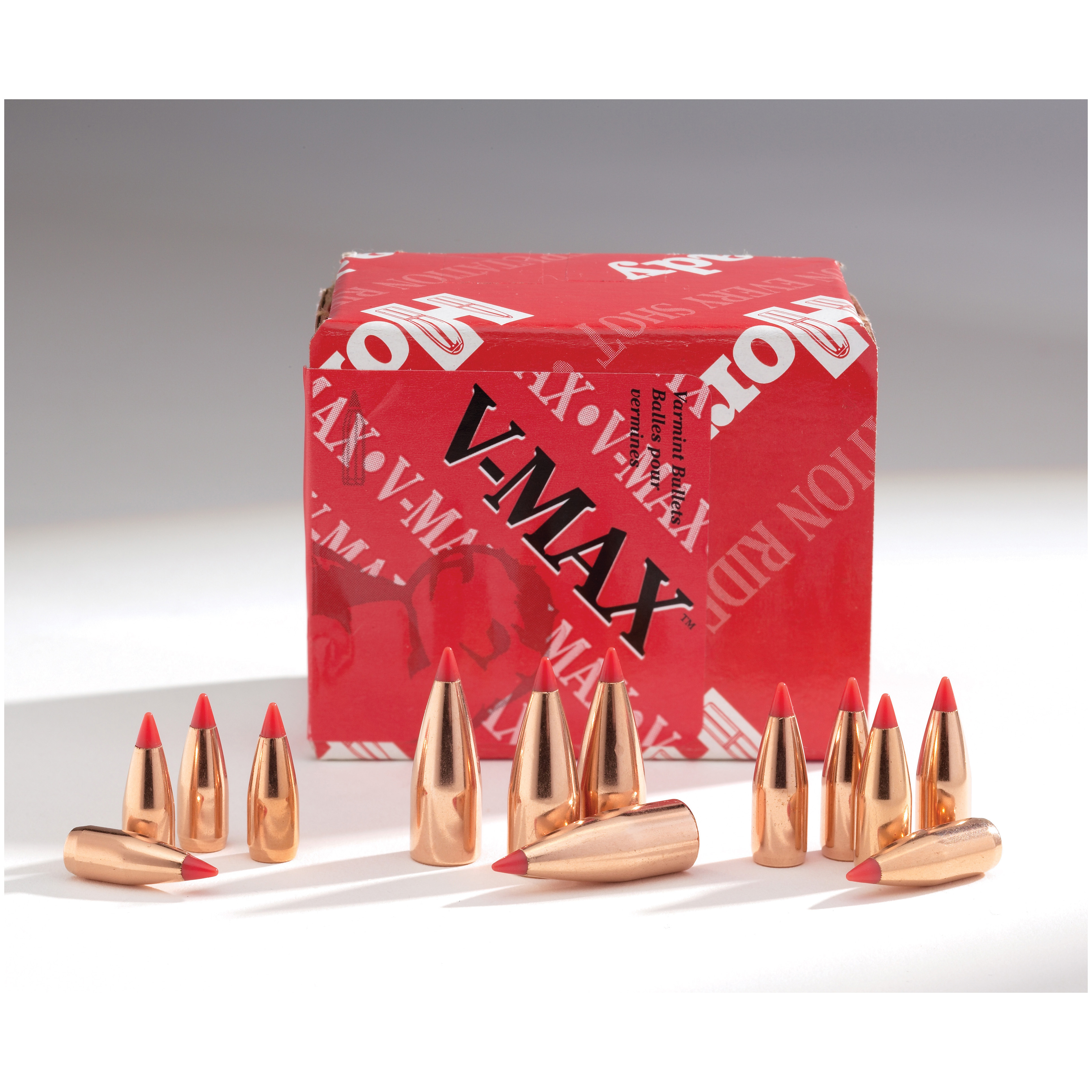 100-Pk. of Hornady .17 Caliber .172 20 Grain V-MAX Bullets. Down varmint with ease! You'll love the performance and stopping power of these Hornady .17 Caliber 20 Grain V-MAX Bullets. Upon impact the polymer tip expands and causes dramatic fragmentation of the core and jacket. Constructed with a streamlined design, so every shot has an ultra-flat trajectory. It's the perfect bullet for hunting varmint and other small critters.Features:Polymer tip initiates dramatic expansion upon impact Aerodynamic design for a high ballistic coefficient and in-flight stability Swagged lead core builds up energy which helps cause dramatic fragmentation of the core and jacket 20 Grain weight 100 bullets per box. Order up today! - $19.99