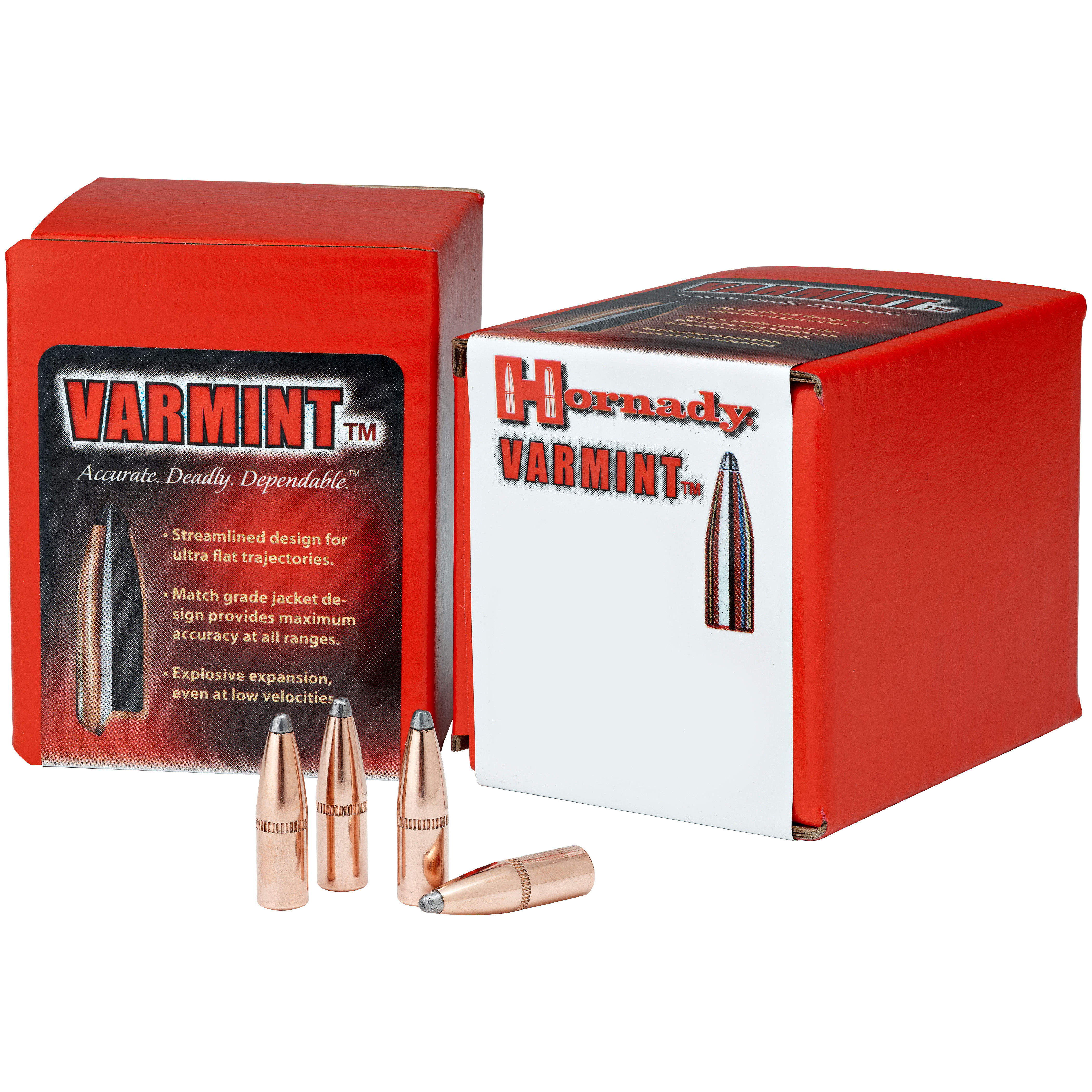 "100-Pk. of Hornady .22 Caliber 55-grain .224"" SP Cannelure Varmint Bullets offer topnotch performance during any hunt! Incredibly accurate. These Hornady .22 Caliber 55-grain .224 SP Cannelure Varmint Bullets feature a streamlined design for ultra flat trajectories and excellent accuracy. Upon impact they expand to provide maximum stopping power. Perfect for hunting varmint and other small critters.Features:Streamlined design for ultra flat trajectories Match grade jacket design provides maximum accuracy at all ranges Explosive expansion, even at low velocities 55-grain weight 100 bullets per box. - $14.99"