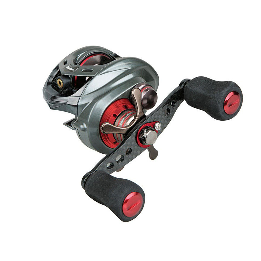 Okuma Komodo 364 Left Handed Baitcasting Reel. The ultimate predator. A monster of power and precision, the Komodo 364 is ready to take down monsters with exceptional strength, huge line capacity and a beefy drag system. Maximizing the opportunity provided by its substantial line capacity is a Carbonite drag system that offers 25 lbs. of maximum drag. The main gear, pinion gear and drive shaft are constructed from stainless steel for incredible strength.Find your prey:Left hand retrieve 10BB+1RB stainless steel bearing drive system for smooth performance Rigid die-cast aluminum frame and sideplates for top cranking power CRC Corrosion-Resistant Coating process for added durability A6061-T6 machined aluminum, anodized spool Durable brass main and pinion gear system Multi-disc Carbonite drag system with 25 lbs. max drag. Micro-click adjustable for maximum control Precision Japanese ABEC-5 spool bearings Dual anti-reverse system for maximum reliability 7-position Velocity Control System under palm cover Zirconium line guide inserts for use with braided line On / Off bait clicker for trolling, chunking or bait fishing Line capacity: 12 lb. / 250 yds., 14 lb. / 230 yds., 20 lb. / 150 yds (mono) 6.4:1 gear ratio Weighs 10 1/2 ozs. Model KDR-364LX comes with a standard handle. Model KDR-364PLX comes with Okuma's power handle for added cranking ease. State Model, as available in the Shopping Cart. - $194.99