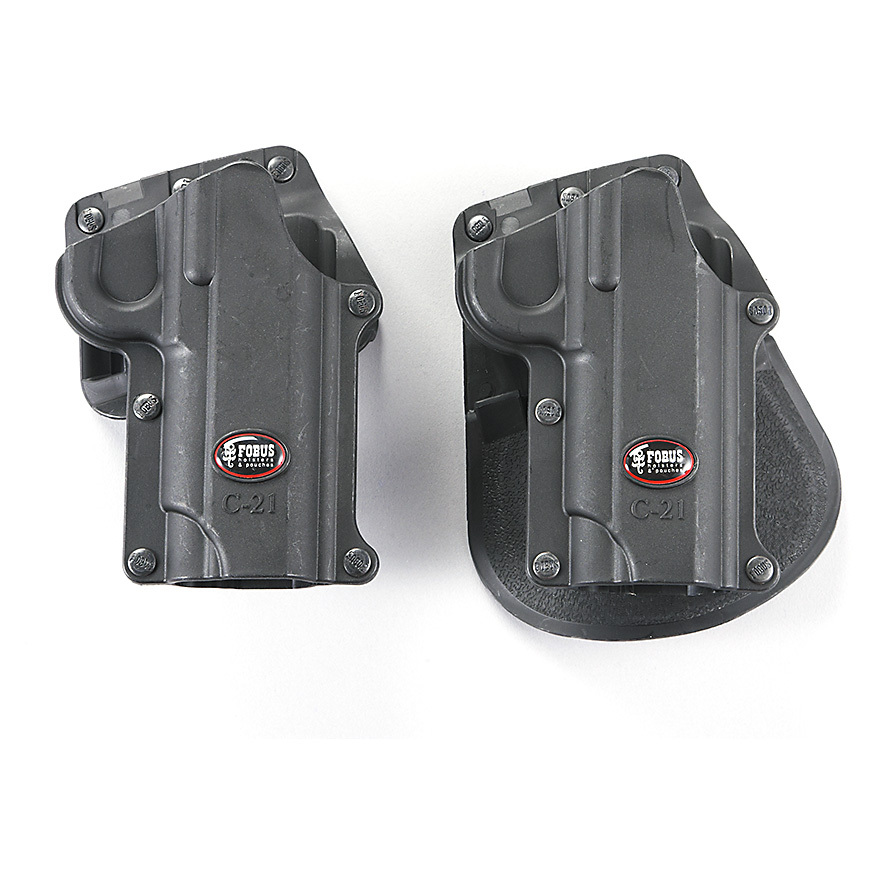 Fobus Holsters. Combat-proven secure carry! Developed in Israel for military and law enforcement use! Injection-molded space-age high-density polymer creates a comfort fit and durability to go the distanceHigh riding, low profile with amazing retention. Maintenance freeWeighs just 2 ozs. each. State Hand and Style, as available in the Shopping Cart. Order yours now! - $24.99