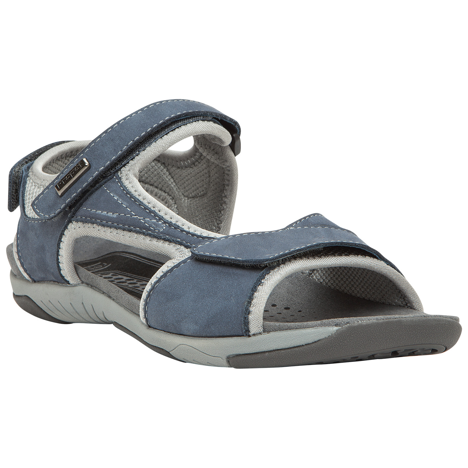 Women's Prop t Helen Sandals. Summertime classics with a little something extra in the comfort department. Helen Sandals feature Prop t's Rejuve Motion Technology... designed to encourage a natural stride while comforting and relieving lower-body joint pain! Rejuve Technology is totally podiatrist-designed, and you'll feel it in every step. Check 'em out, in medium and wide sizes!Rejuvenate your summer footwear: Nubuck leather (depending on color choice) upper with comfort padding 3 hook-and-loop straps (forefoot, instep and heel) for fully adjustable fit Contoured insole with microfiber lining Cushioning EVA midsole for all-day comfort and support High-performance rubber outsole for traction and long-lasting support Each approx. 7 ozs.State Color, Size and Width, as available in the Shopping Cart. - $79.99