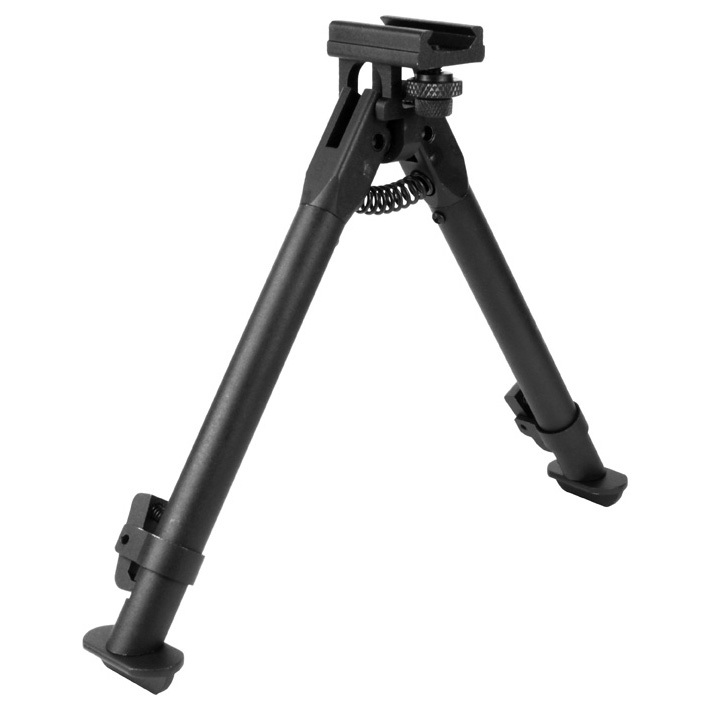 "AIM Sports AR Handguard Rail Bipod-Standard is a great choice for better firing accuracy. Stabilize your firearm for a better shot. This AR Handguard Rail Bipod-Standard clamps directly to the handguard rail. It has adjustable legs with a retract / collapse button.Details:Made of aircraft-grade aluminum Compatible with Weaver / Picatinny 1913 rails Matte Black Height adjusts from 6-7/8"" to 9-3/8"" Weight 16 ozs. - $29.99"