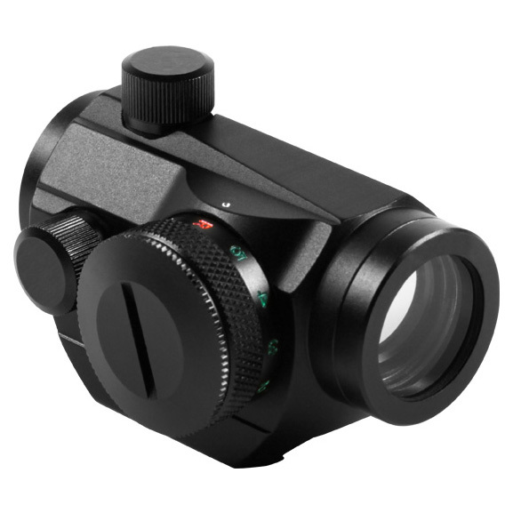 "AIM Sports Micro Dot Reflex Sight, Dual Illuminated gives you quick pinpoint precision. Fast, bullseye accuracy for less! This Sight has a dual-illuminated (Red, Green) 4 MOA dot reticle with adjustable rheostat for brightness control. On the low setting, it has a battery life of 2,000 hrs., plus it has unlimited eye relief for quick target acquisition.Look:Fog proof and shock-resistant housing Nitrogen charged with weather-resistant seals Coated lens for superior light transmission, resolution and scratch resistance Integrated Weaver / Picatinny 1913 mounting system 1X magnification Includes protective lens cover 20mm objective aperture Click value @ 100 yds.: 1/2 MOA Uses a CR2032 battery 2 1/4""l., 5 ozs. - $59.99"