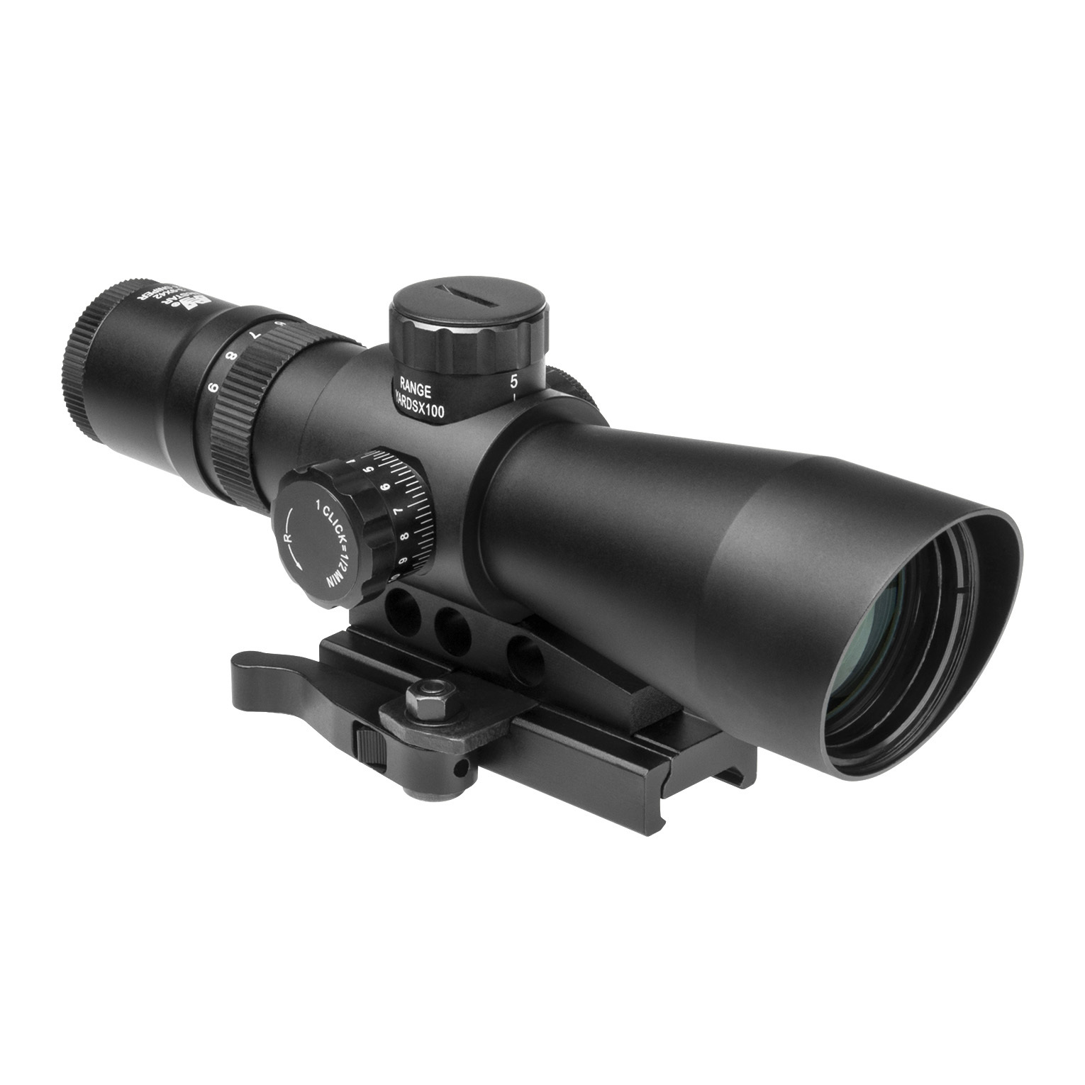 "NcSTAR 3-9x42 Mark III Tactical Gen 2 Mill Dot Scope is tack-driving toughness for your AR! The ultimate sight for your tactical AR! The NcSTAR SRT Series 3-9x42 Mark III Tactical Gen 2 Mill Dot Scope gives deliver BIG quality and performance features in a compact size. Spot your target with the dual-illuminated Mil-Dot reticle that adapts for all lighting conditions, then set up the shot and nail it every time thanks to the built-in .223 bullet drop compensator!Scope Details:Variable 3-9X magnification for every shooting situation 42mm objective lens pulls in the light under the worst conditions Blue / green dual-illuminated Mil-Dot reticle with multiple brightness settings adapts for all conditions Fully multi-coated optics for enhanced contrast Bullet drop compensator calibrated for the .223 cartridge with a 55 grain bullet Quick focus eyepiece puts you on target in a jiffy F.O.V. @ 100 yds. is 36.8 - 12.0' 1/2 M.O.A. adjustments for windage and elevation Integrated quick-release mount fits any Weaver / Picatinny rail... sets up to use low-profile AR backup sights Aluminum housing with built-in sunshade and black painted finish Includes lens caps and an extra battery Approx. 7 1/2""l, 17 1/3 ozs. State Reticle, as available in the Shopping Cart. - $99.99"