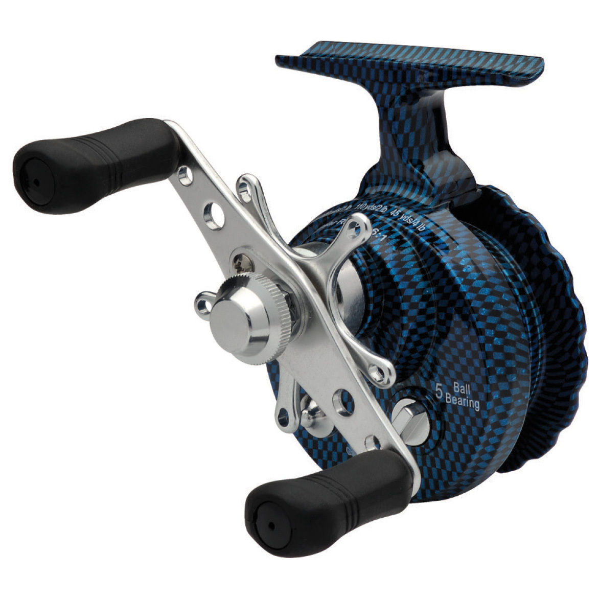 "Eagle Claw Blue Inline Ice Reel. Smooth cranking performance at INCREDIBLE SAVINGS! Grab some great times on the ice without breaking the bank! The Eagle Claw Blue Inline Reel gives you the features you need at an outstanding price. Reel in the features: 5 ball bearing construction for exceptionally smooth performance2.6:1 gear ration... line retrieve in / crank: 15.75""Smooth, Teflon adjustable star dragFree spool release buttonLightweight nylon body with aluminum spoolReduced line twist. - $24.99"