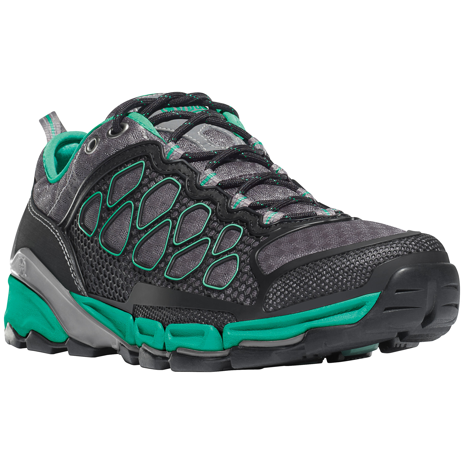 Women's Danner Extrovert Hiking Shoes. Ultra-light, quick-drying low hikers with plenty of zip! Ultra light and completely breathable, this unique Hiker goes from wet to dry in minutes. The minimal upper provides a light and comfortable fit, while Danner's patented EXO technology brings stability and protection. Drainage channels and flex points throughout the platform encourage maximum airflow.Get moving:The upper is made from protective polyurethane fused to light and breathable polyfiber Danner patented EXO Platform offers enhanced stability and support Cascade Range outsole is specially developed for traction on wet surfaces Perforated open cell polyurethane insole for breathability and cushioning DWR (Durable Water Repellent) treated upper material Nylon shank for lightweight underfoot support Midsole channels provide increased flexibility, underfoot breathability and drainable comfort Each approx. 13 ozs.State Size and Width, as available in the Shopping Cart. - $119.99