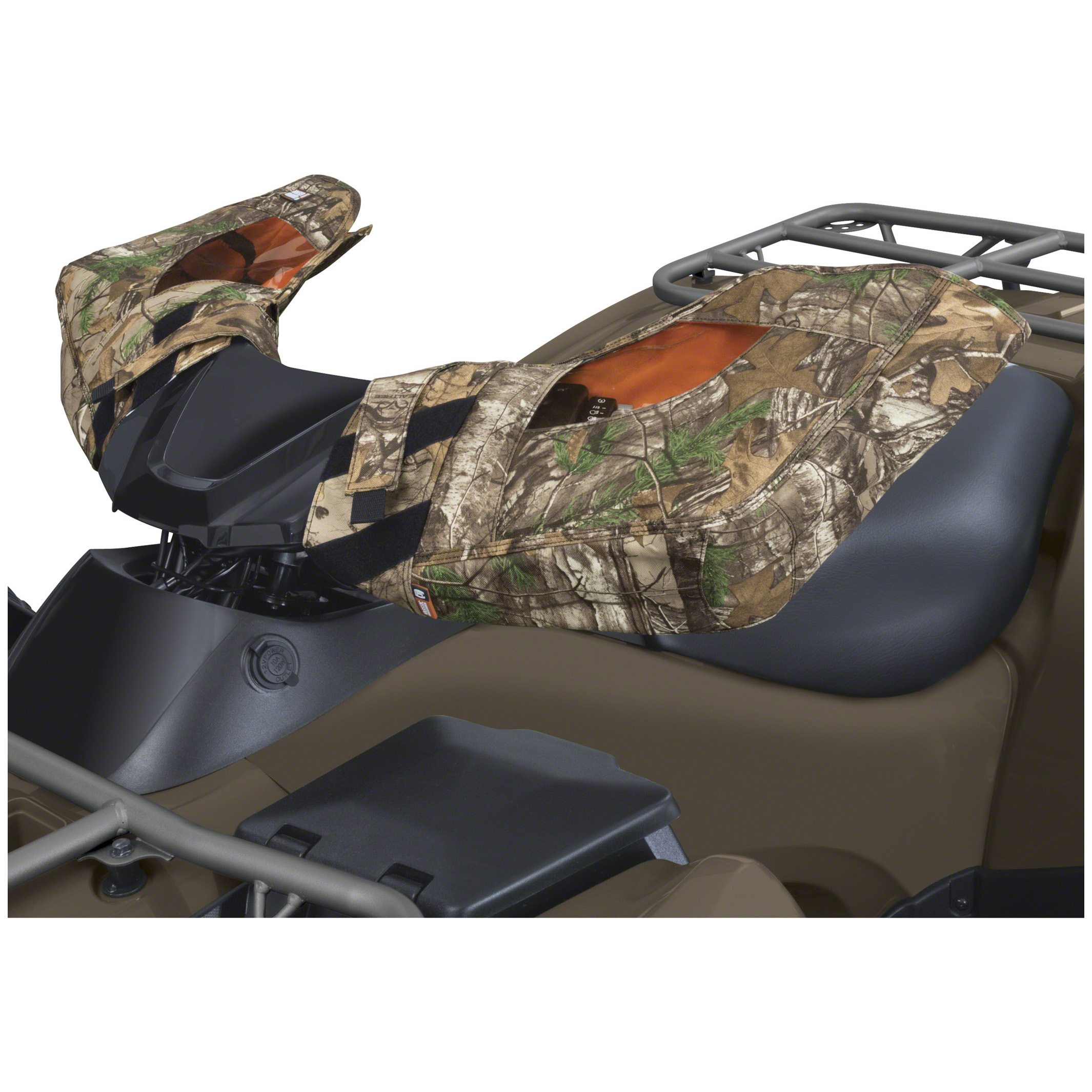 Classic Accessories Camo ATV Handlebar Mitts keep your hands warm, dry and protected. Add comfort to you ride in cold or wet weather. These Camo ATV Handlebar Mitts have water-resistant backing and exterior coating for outstanding weather and abrasion protection. They also provide warmth to keep your hands feeling good. They come in Realtree XTRA camo and fit most ATV handlebars. Take a look: Quickly fits ATV handlebars with rip-and-grip attachment Ultra-Clear windows keep controls in sight Interior pockets for heat packs (heat packs not included) Warm and comfortable fleece lining. - $64.99