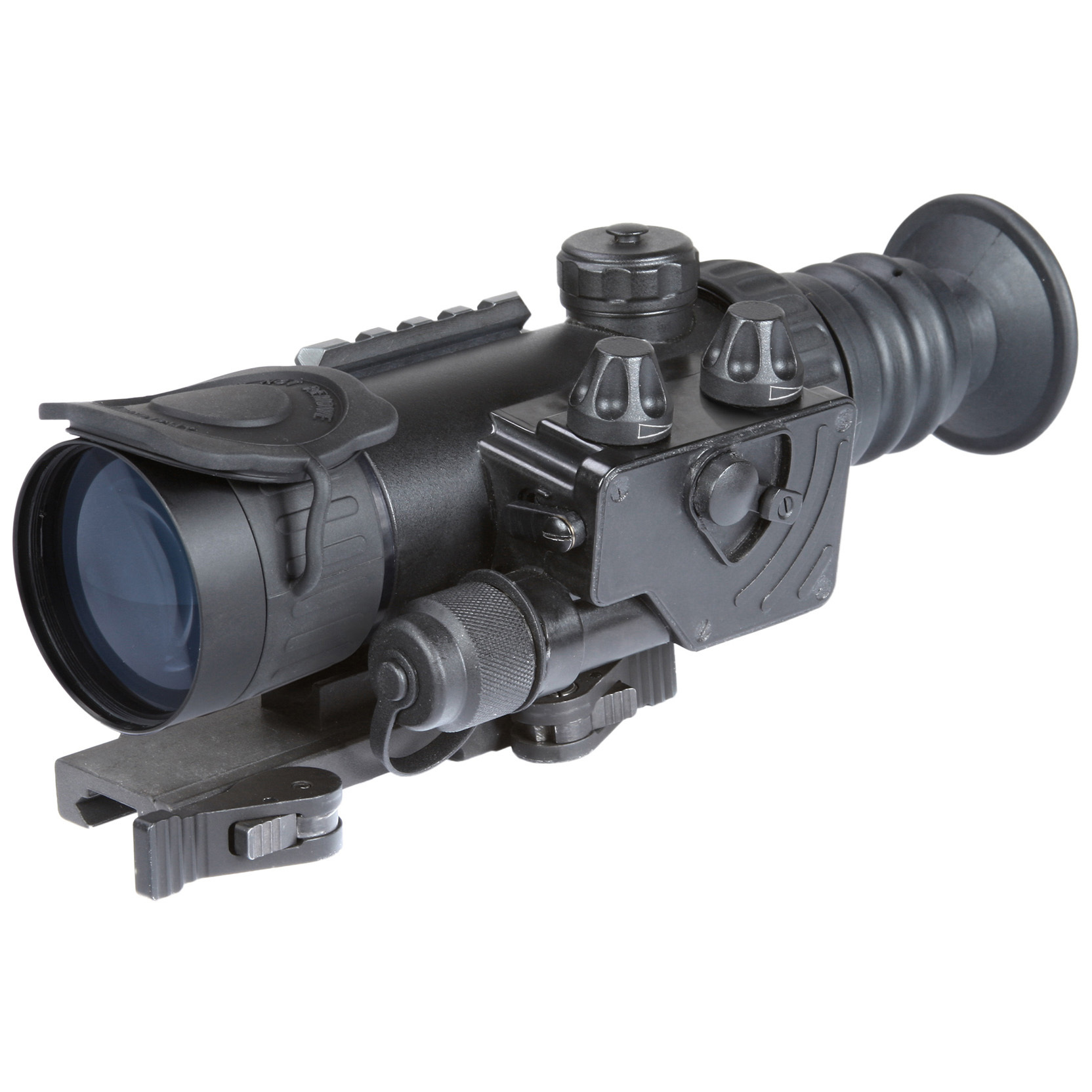 "Armasight Vulcan 2.5-5X Gen 3 Bravo MG Night Vision Rifle Scope. High-resolution imaging and high-level performance in a lightweight, compact weapon sight. Small in size, but huge in performance, this Vulcan 2.5-5X Gen 3 Bravo MG delivers stunning night imaging without unbalancing your rifle. It weighs just 27 ozs., but still packs a high-resolution image tube, multi-coated all-glass lenses and an internally adjustable fine reticle that makes precise shot placement incredibly easy.Mount it to your rifle's Weaver or Picatinny rail in seconds. No tools. No time wasted. Then let the Vulcan do its thing, pulling your target out of the shadows with a Gen 3 Bravo MG image tube and serving it up in stunning clarity. Ideal for predator hunters, tactical marksmen and security personnel. Features:Wide array of IIT configurations 2.5-5X magnification with included magnifier Shockproof, all-glass IR transmission multi-coated optics Bright light cut-off Illuminated reticle with brightness adjustment Variable gain control Includes wireless remote Detachable long-range infrared illuminator Waterproof design for durability Low battery indicator Quick-release mount Mounts to a standard Weaver rail Runs on 1 CR123A battery (included) or 1 AA battery (not included) Includes lens cap, carrying case, battery adapter, and lens tissue Measures 3.8 x 2.8 x 9.4""l. Weighs 1.7 lbs. Specifications:IIT generation: Gen 3 Bravo MG Resolution: 57-64 lp / mm Exit pupil diameter: 7mm Eye relief: 45mm Windage and elevation adjustments: 1/2"" MOA Lens system: F1.35, F60 mm 16 degrees F.O.V. Diopter adjustment: -4 to +4 Controls: direct Battery life: 50 hours (CR123A) or 45 hours (AA) Operating temperature: -40 degrees to 122 degrees F. Storage temperature: -50 degrees to 158 degrees F. - $4,084.99"